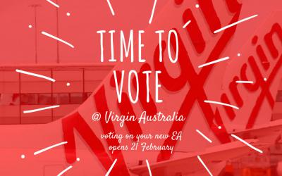 TIME TO VOTE YES AT VIRGIN AUSTRALIA