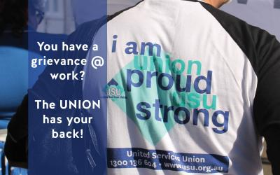 Your Award: You have a grievance @ work? The UNION has your back!